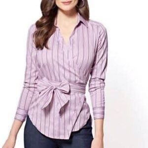 Violet Wrap Front Shirt XL